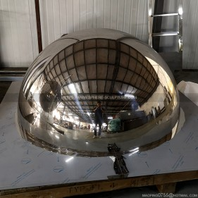 1400mm polished mirror large stainless steel hollow hemisphere
