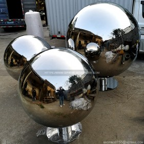 80cm 100cm 150cm large stainless steel hollow sphere with base