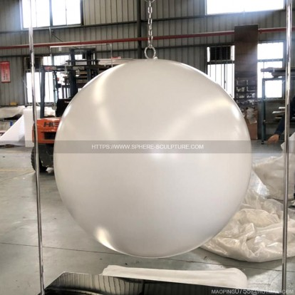 1200mm large stainless steel white sphere garden decorative sphere