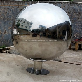 1000mm 1600mm large stainless steel mirror polished hollow sphere with base