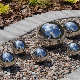 100mm 150mm 200mm 300mm 400mm garden decorated stainless steel hollow sphere