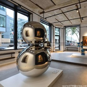 Large Stainless Steel Sphere Sculpture