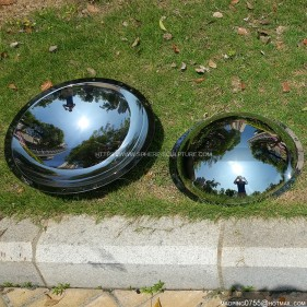 Stainless steel Mirror polished concave disc dome