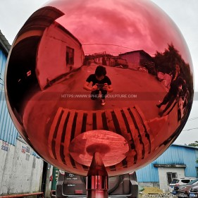 900mm Red stainless steel sphere