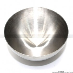 Stainless steel hemisphere brushed