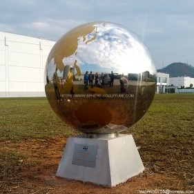 Outdoor Globe stainless steel sphere sculpture