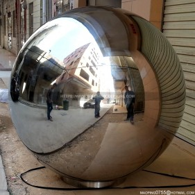1300mm large polished stainless steel hollow sphere