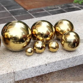63mm 76mm 80mm 100mm 150mm Gold Stainless Steel Gazing Ball Colored steel sphere