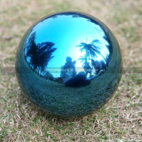 80mm Blue Stainless Steel Gazing Ball Hollow steel ball