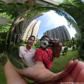 100MM polished mirror stainless steel hollow sphere staring ball