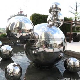 Outdoor Art Decorate Large Stainless Steel Sphere Sculpture