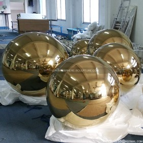 Stainless steel golden sphere electroplated steel ball