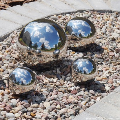 100mm 150mm 300mm garden decoration metal mirror observation ball gaze ball