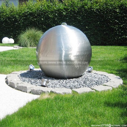 stainless steel sphere water feature Fountain