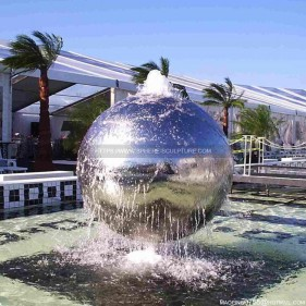 Garden Decoration Large Stainless Steel Sphere water features