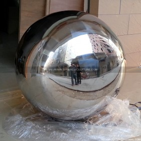 Outdoor decoration 800mm stainless steel fountain sphere