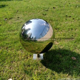stainless steel mirror sphere gazing balls garden