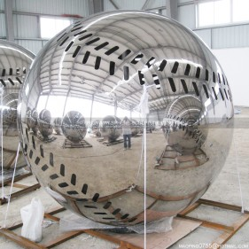 City Building Decoration Large Stainless Steel Baseball