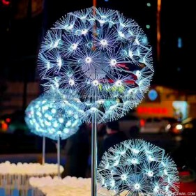 Luminescence dandelion sculpture plant statue