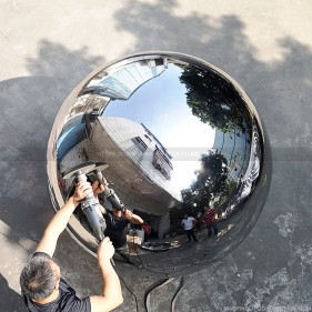 1.6M 1600mm polished mirror metal hollow sphere