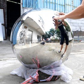 36 inch metal Polished mirror sphere