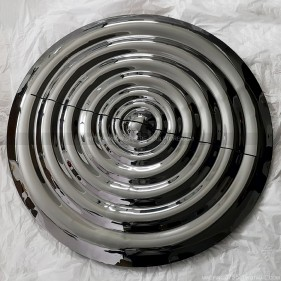 Public Art Stainless Steel Water Corrugated Mirror Plate Sculpture