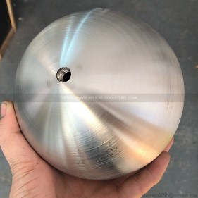 Brushed  Stainless Steel Hollow Spheres 120mm M8 Holes