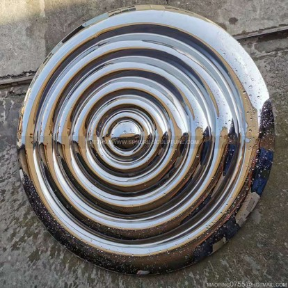 Metal mirror Water ripple Sculpture