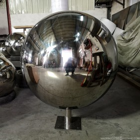 600mm stainless steel sphere fountain water feature