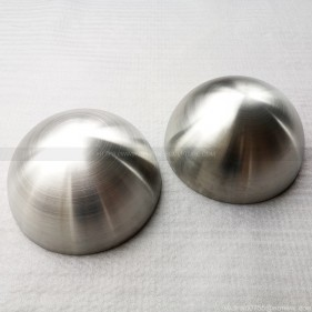 12 inch brushed stainless steel hemispherical metal dome