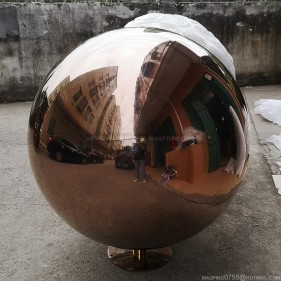 48 inch Metal Polished Water Feature Sphere Fountain Ball