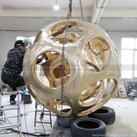 copper ball  sculpture art