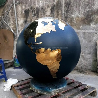 Stainless Steel Globes sculpture