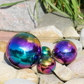 Color Gazing Mirror Ball Stainless Steel  Garden Sphere