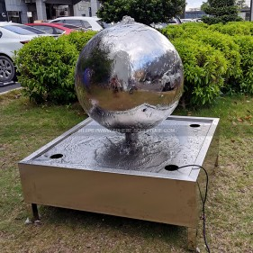 Stainless Steel Spheres Water Features for Your Garden Decoration