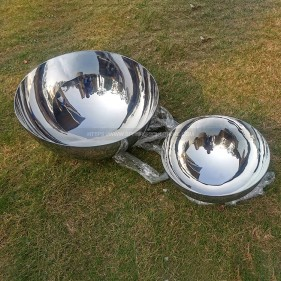 30Cm 50Cm Stainless steel Double sided polished hemisphere
