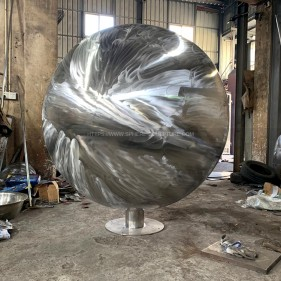 sanded non-polished stainless steel sphere