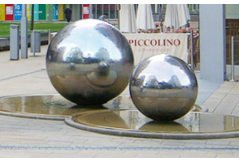 Application of Decorative Stainless Steel sphere