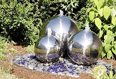 Garden Fountain Stainless Steel Beautifies and Decorate Your Garden Landscape