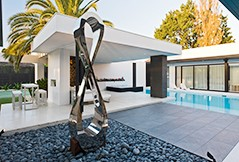 Stainless steel sculpture function