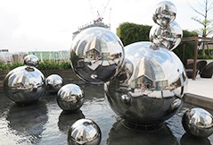 Stainless Steel Sphere for Hotels and Resorts or Other Buildings