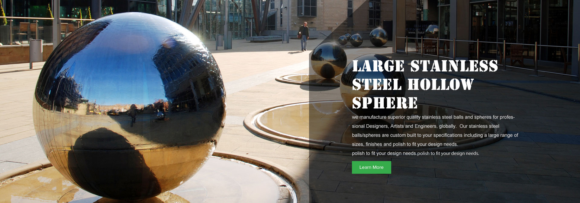 City Public Art Fountain Sphere