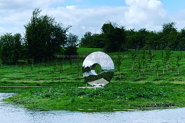 Steel Eye Sculpture Installed in Ireland