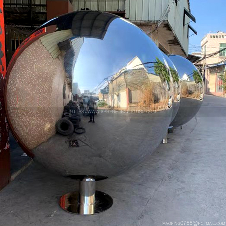 2m huge hollow sphere Polished metal ball