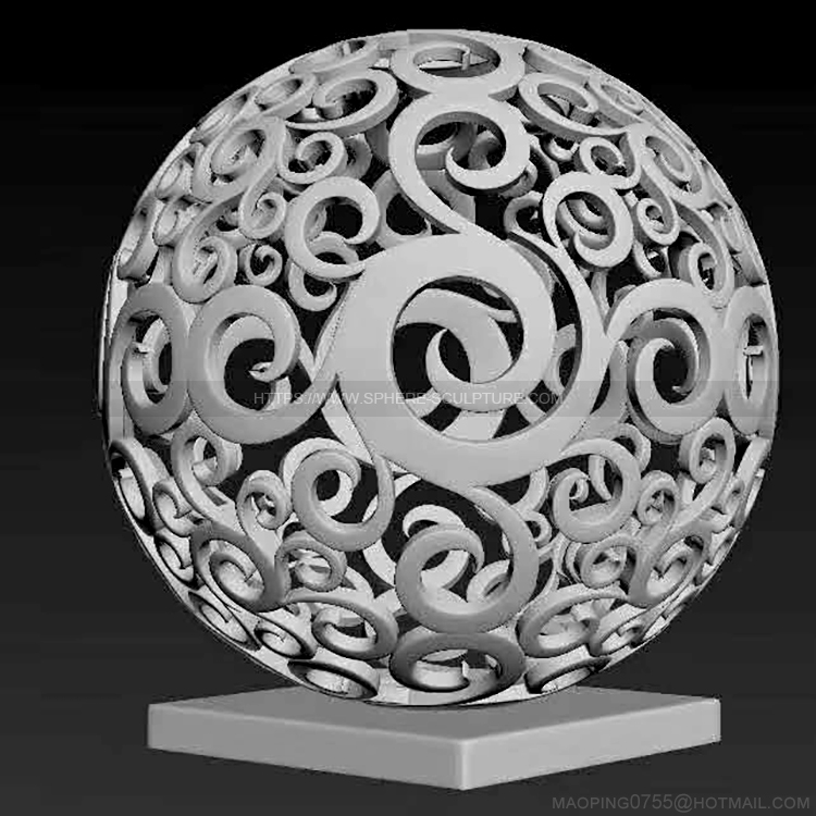 Garden Art Steel Hollow sphere sculpture