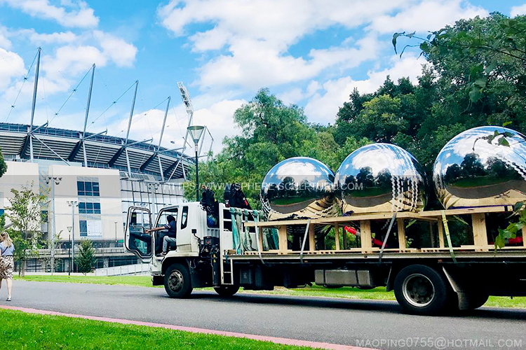 3 giant stainless steel cricket balls
