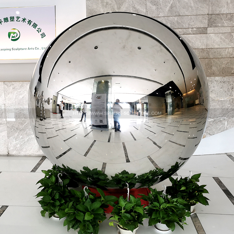 160cm Large Size Stainless Steel Gazing Ball Sphere 8K Mirror